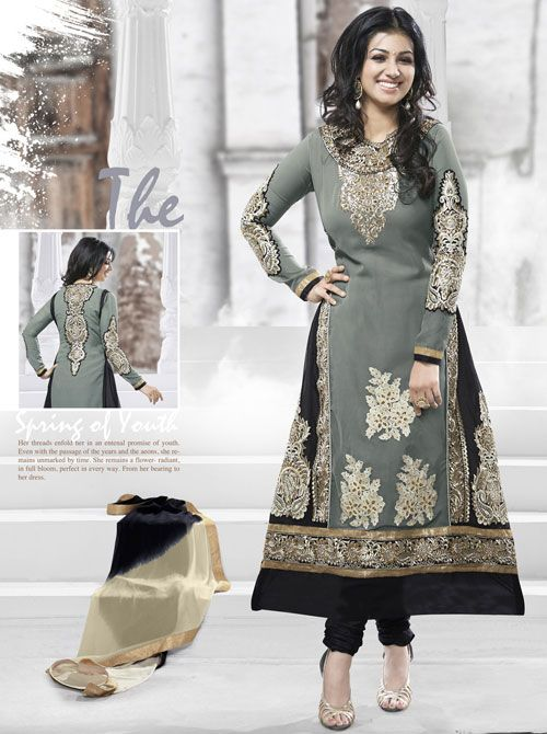 SV-KA0272 at JUST @ INR 2,309.00 Buy at http://www.shopvhop.com/product/exotic-grey-pakistani-suit-ayesha-designer-collection-3002/