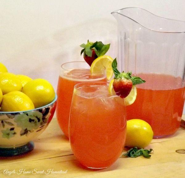 Angels Home Sweet Homestead: Strawberry Basil Lemonade #secretrecipeclub: