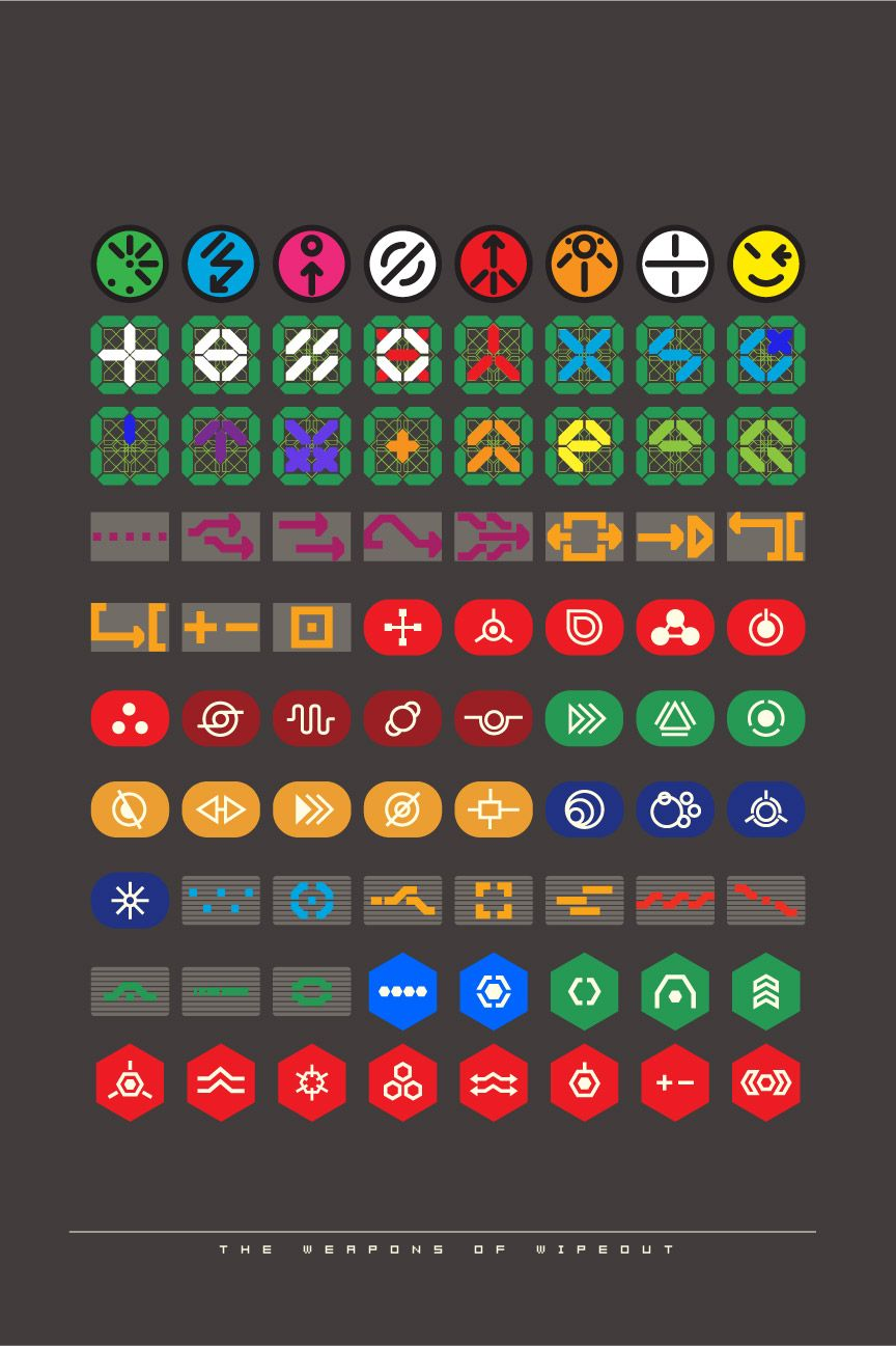 The weaPon iCons of wipEout