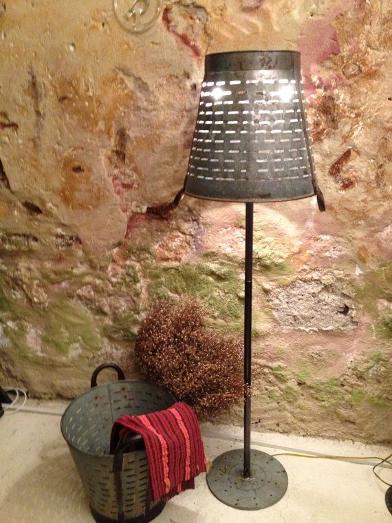 Rustic Decorative Lamp Lighting Floor Lamp Metal Olive
