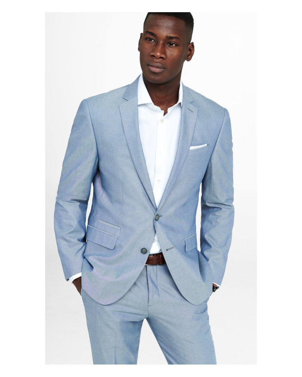 Men\'s Blue Oxford Cloth Photographer Suit Jacket | Suit jackets ...