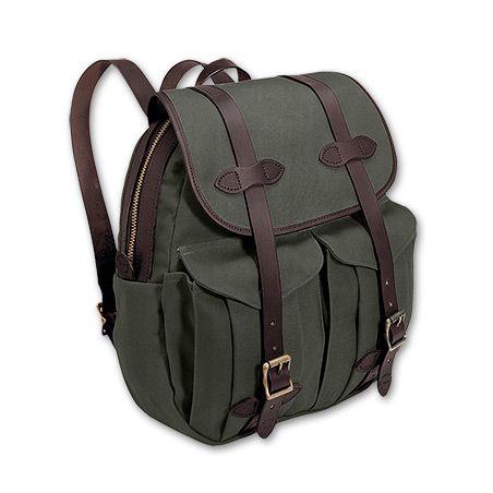 Rugged Twill Rucksack Bags Leather Rucksack Backpack