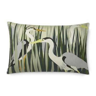 Chesapeake Heron Printed Silk Lumbar Pillow Cover 40 X 40 Multi Interesting Lumbar Pillow Inserts 14 X 22