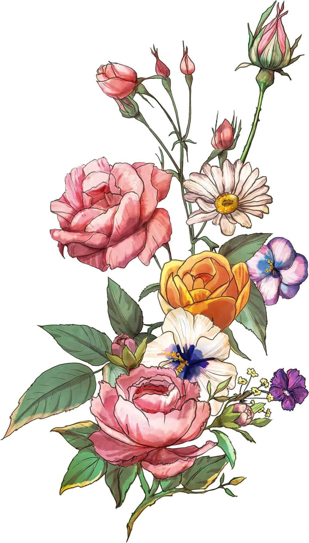 Flower Painting By Fsmir Z On Illustrations Painting Drawing In