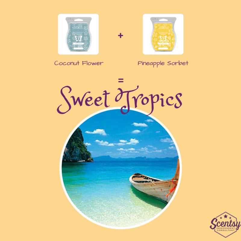 Scentsy Recipe - Sweet Tropics - Summer 2015