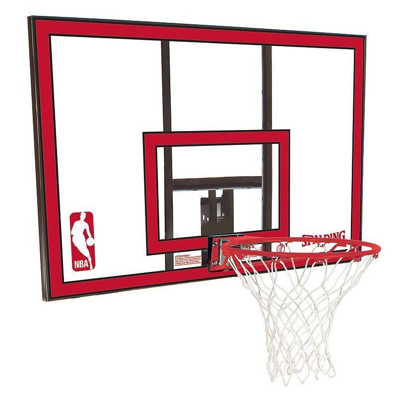Spalding 44Inch Polycarbonate Combo Basketball Backboard