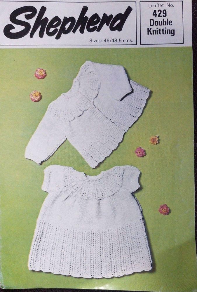 9a69cc0cb Baby Matinee Coat   Dress Shepherd 429 vintage knitting pattern DK ...