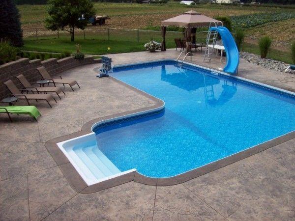 Details about 20\' x 40\' x 30\' Full True L Inground Swimming Pool Kit ...