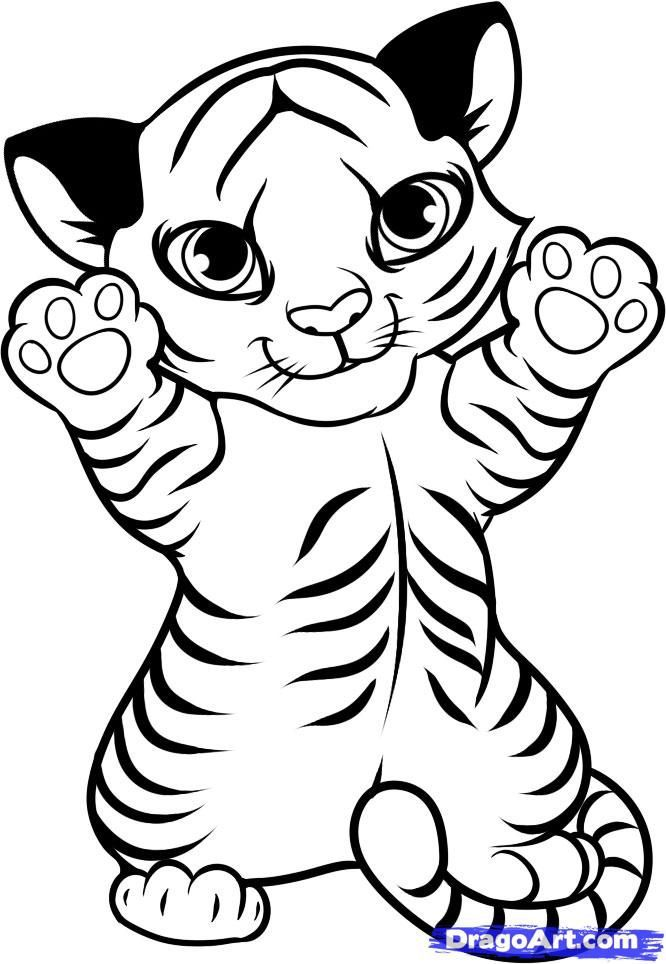 Baby Tiger Coloring Pages Az Coloring Pages Cute Coloring Pages Animal Coloring Pages Cartoon Coloring Pages