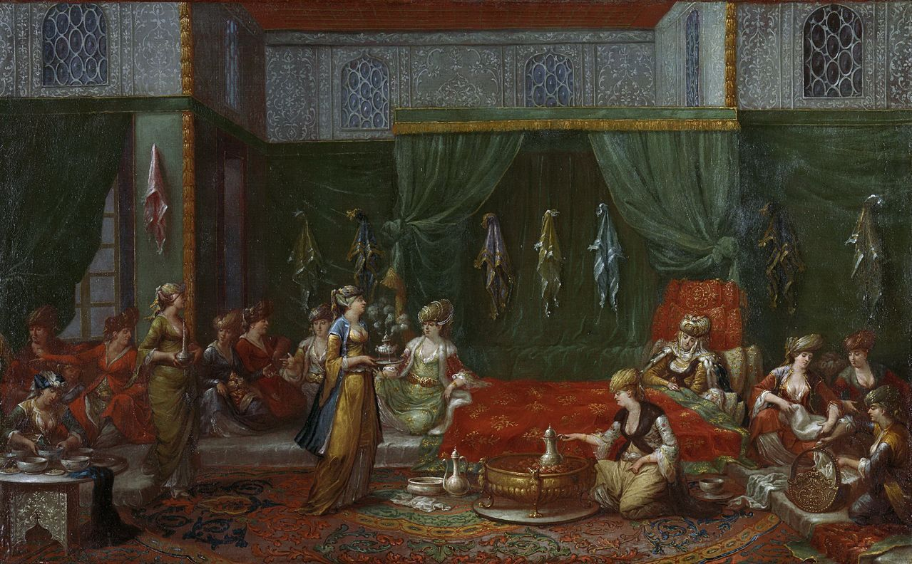 Vanmour, Jean Baptiste - Nursery of a prominent Turkish women, 1727-1737