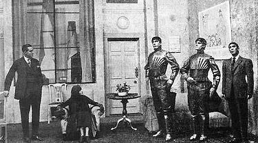 Capek play.jpg First Robot? Rossum's Universal Robots in 1920