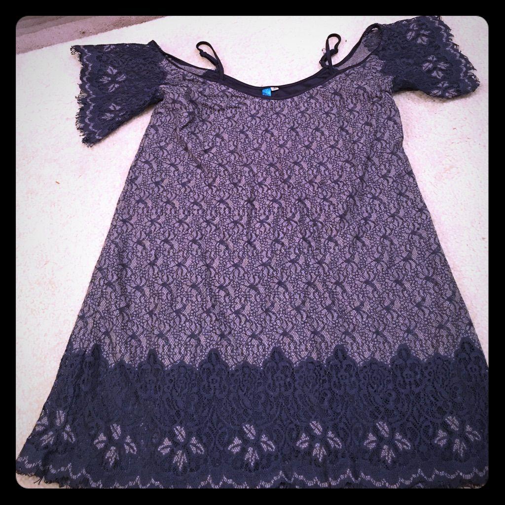 Navy Blue Lace Dress !!!