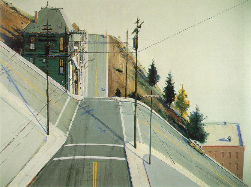"Wayne Thiebaud, ""24th Street Intersection"", 1977"