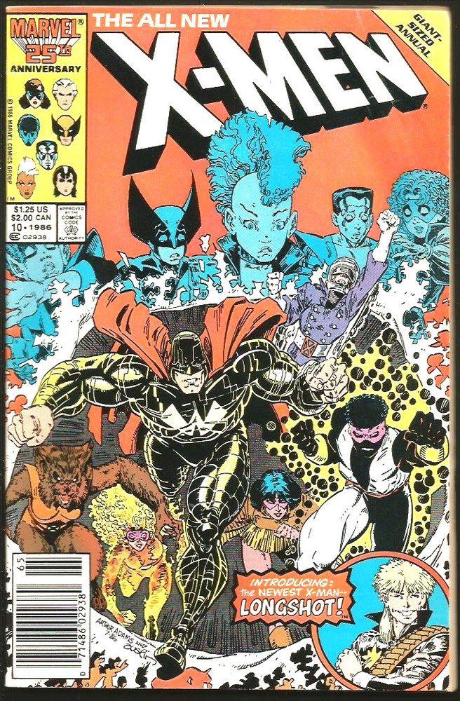 Uncanny X Men Annual 10 Marvel Comics1987 1st Print Series Longshot Art Adams Marvel Comics Covers Classic Comic Books Comic Books Art