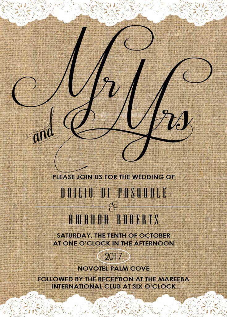 Unique Overseas Wedding Invitations