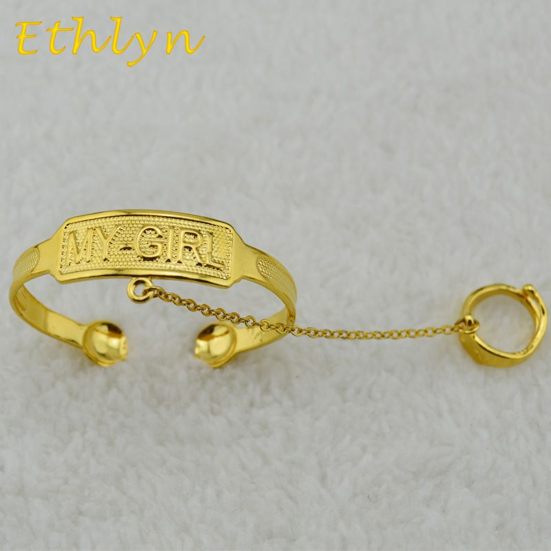 Ethlyn Kids baby/ boys/ girls jewelry bangles Gold Color kids ...