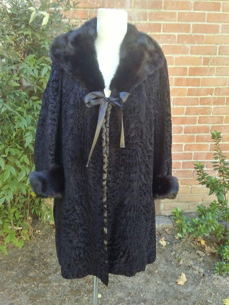 fa8d550c165 Details about SCHIAPARELLI 40s 50s Fur Opera Coat