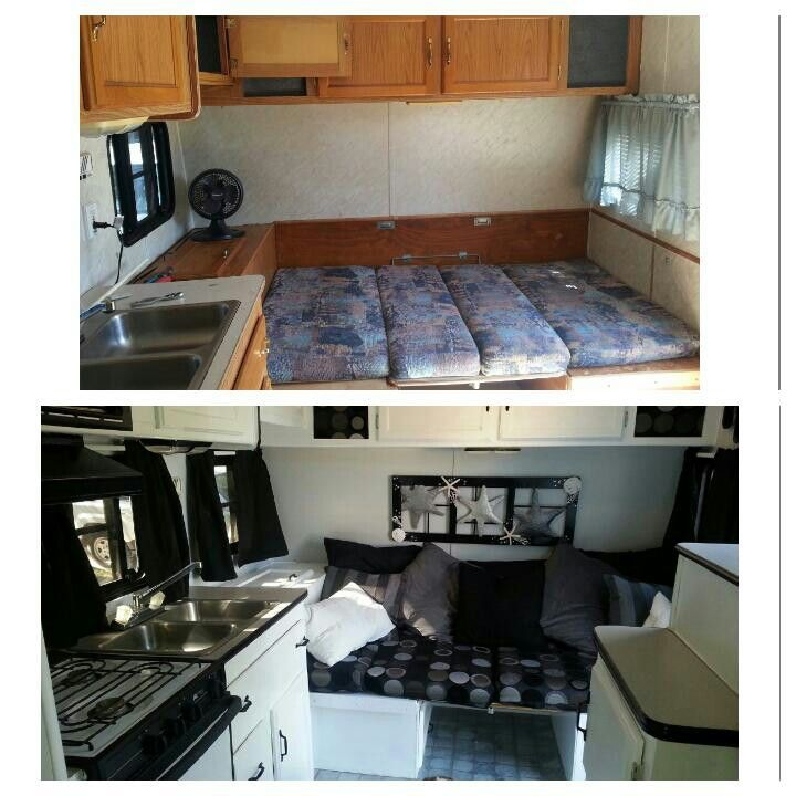 Before And After - Rv Remodel. Dinette / Bed