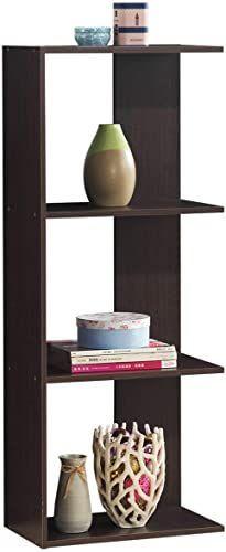 Photo of New Tangkula 4-Shelf Bookcase, Room Divider Display Shelf, Wooden Freestanding D…