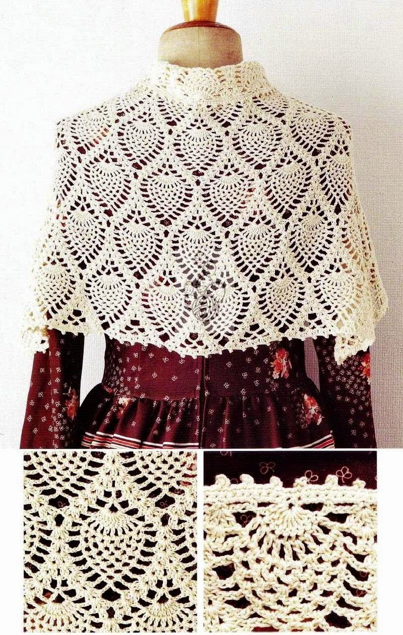Crochet Shawls Crochet Shawl Wrap Pattern Capelet Yarn Crafts