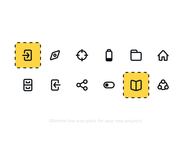 Actions 4 Icon Pack Icon Pack Icon Line Icon