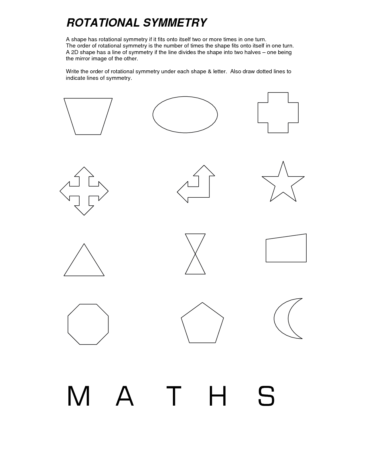 medium resolution of Rotational Symmetry Worksheets   Symmetry worksheets