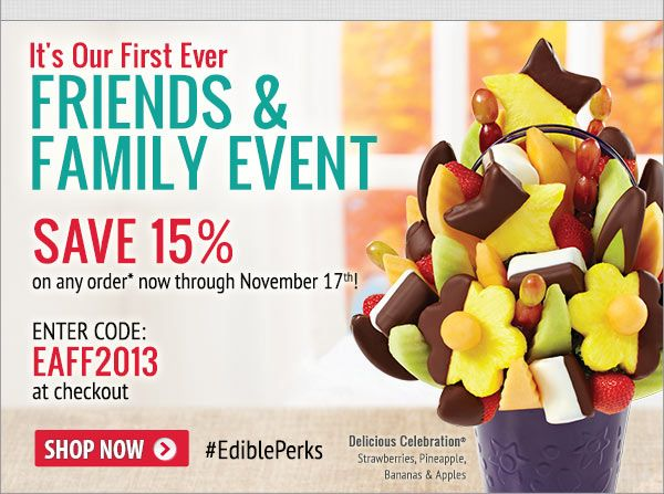 Edible arrangements coupons and discounts