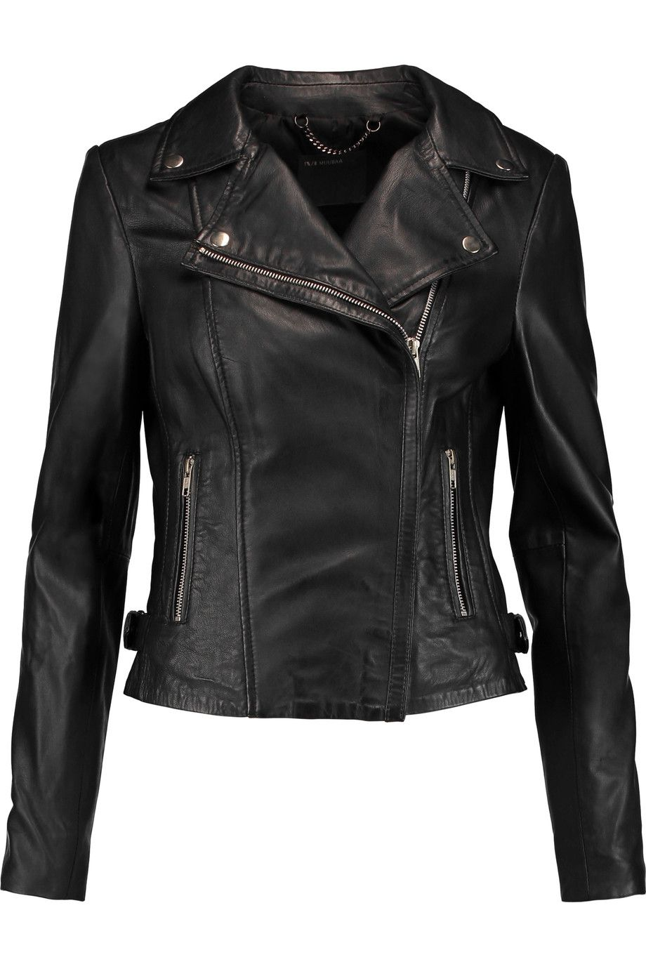 Muubaa Monteria Leather Biker Jacket Modesens [ 1380 x 920 Pixel ]