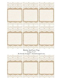 Sweetly Scrapped: Burlap And Lace Cards or Tags