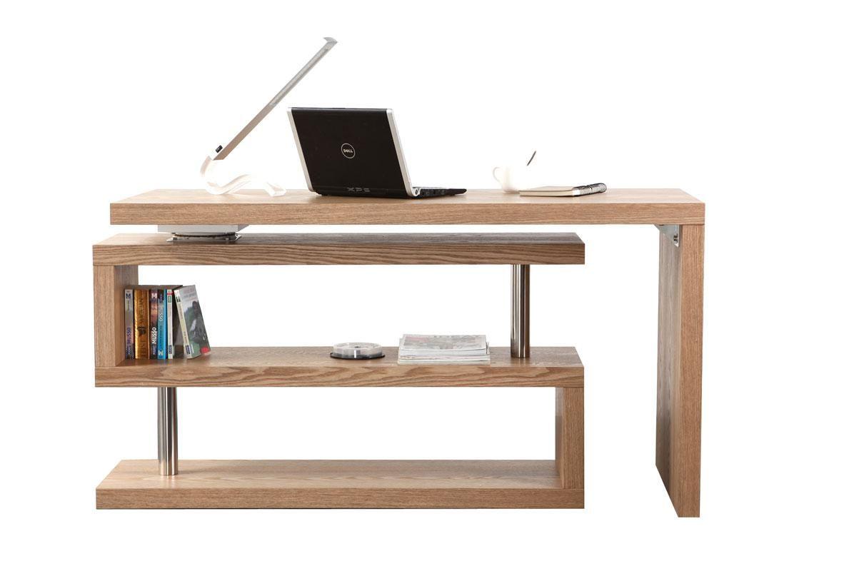 Bureau design bois amovible max miliboo home