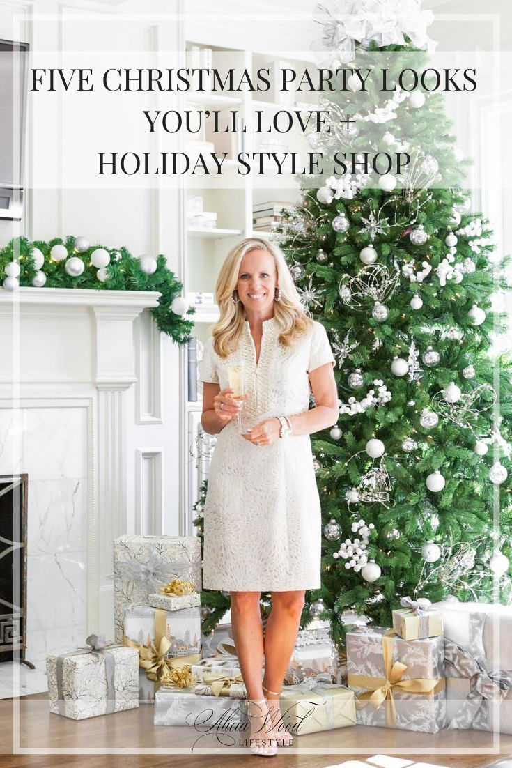 Five Christmas Party Looks + Holiday Style Shop | Alicia Wood Lifestyle | #holidaystyle #christmasstyle #whattowearforchristmas