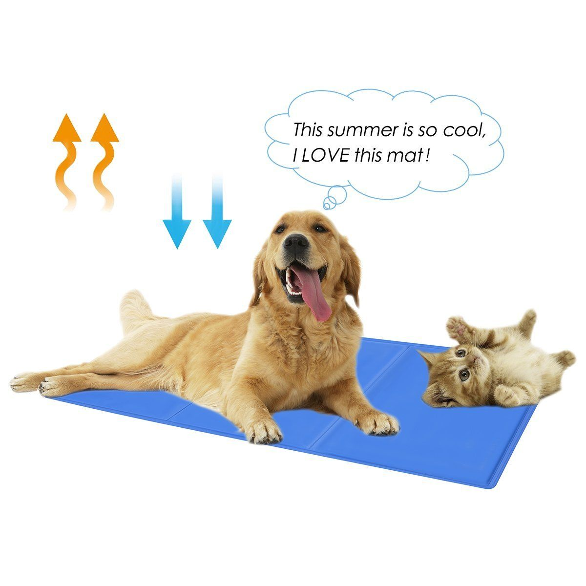 2me Pet Cooling Mat For Dogs Cats Cooling Pad Bed Cover Weight