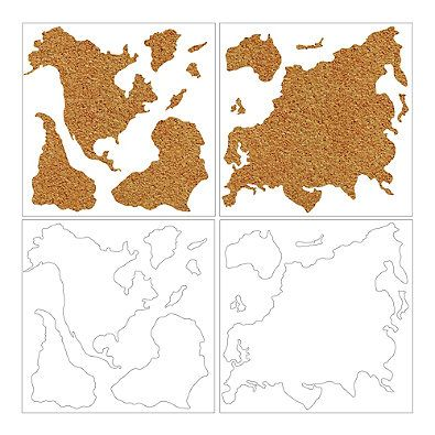 WallPops!® Die-Cut Cork World Map Pinboard Decal with Pushpins in ...