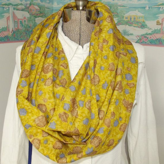 Handmade Floral Infinity Scarf Vest Halter Top by GypsythatIwas