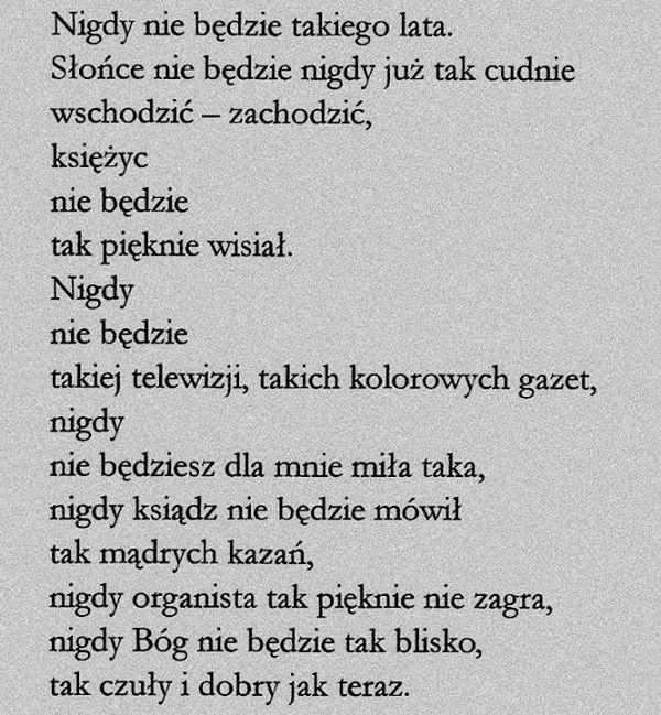 świetlicki Wiersze Poezja I Powiedzenia