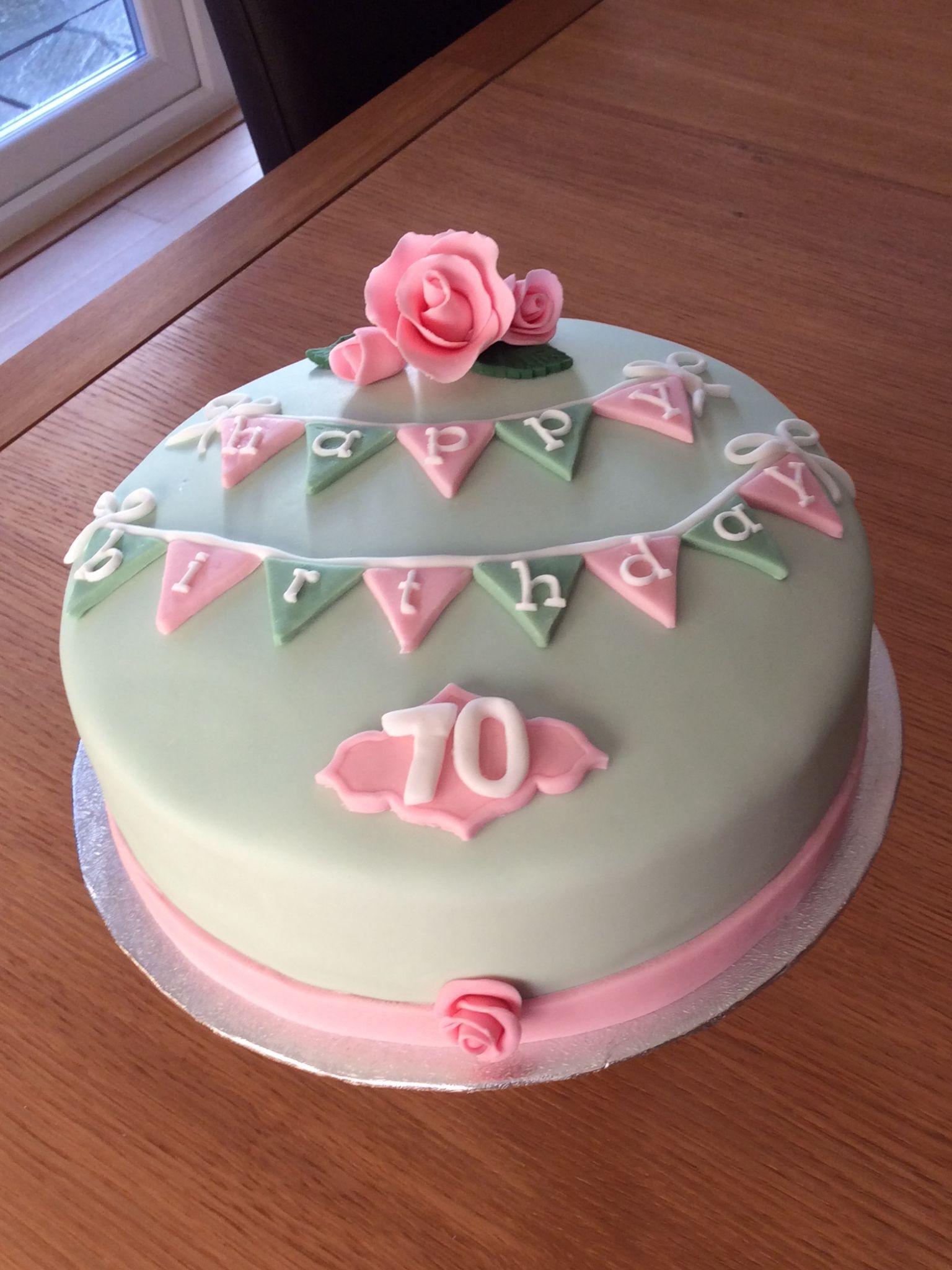 70th Birthday Cake Cakes 70th