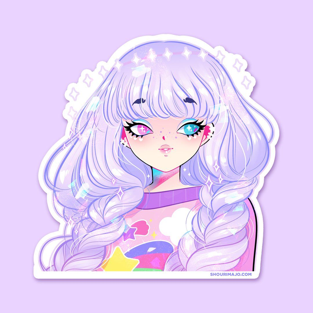 Photo of Cute Cuties Sparkly Stickers (27 designs) – NEW! Dreamy Lavender