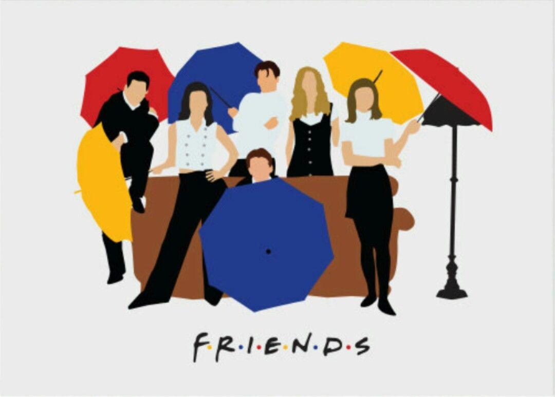 Friends tv shown minimalist poster Friends illustration