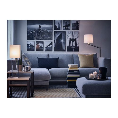 nockeby 3er sofa mit r camiere links tallmyra tallmyra verchromt wei schwarz verchromt joko. Black Bedroom Furniture Sets. Home Design Ideas