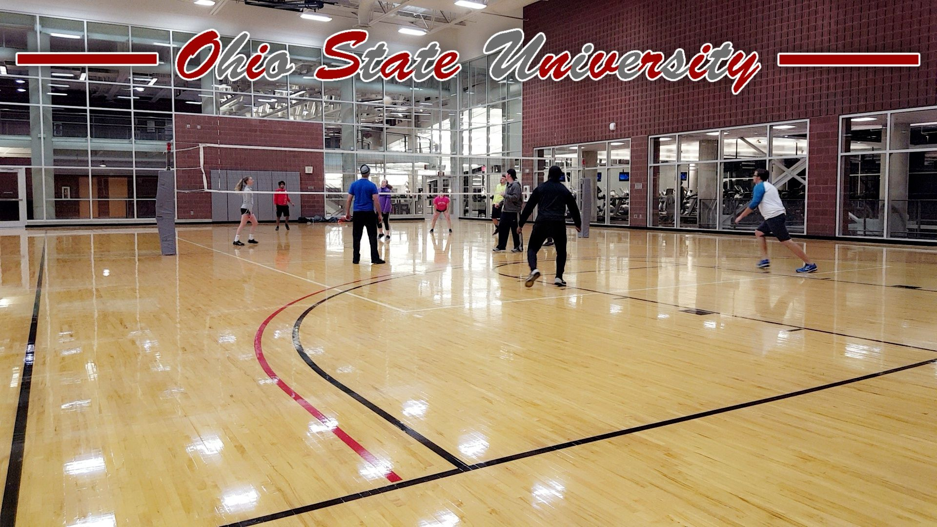 We Had So Much Fun Playing Volleyball At The Rpac At Ohio State University Fitnessfriday Friday Workout Ohio State Ohio