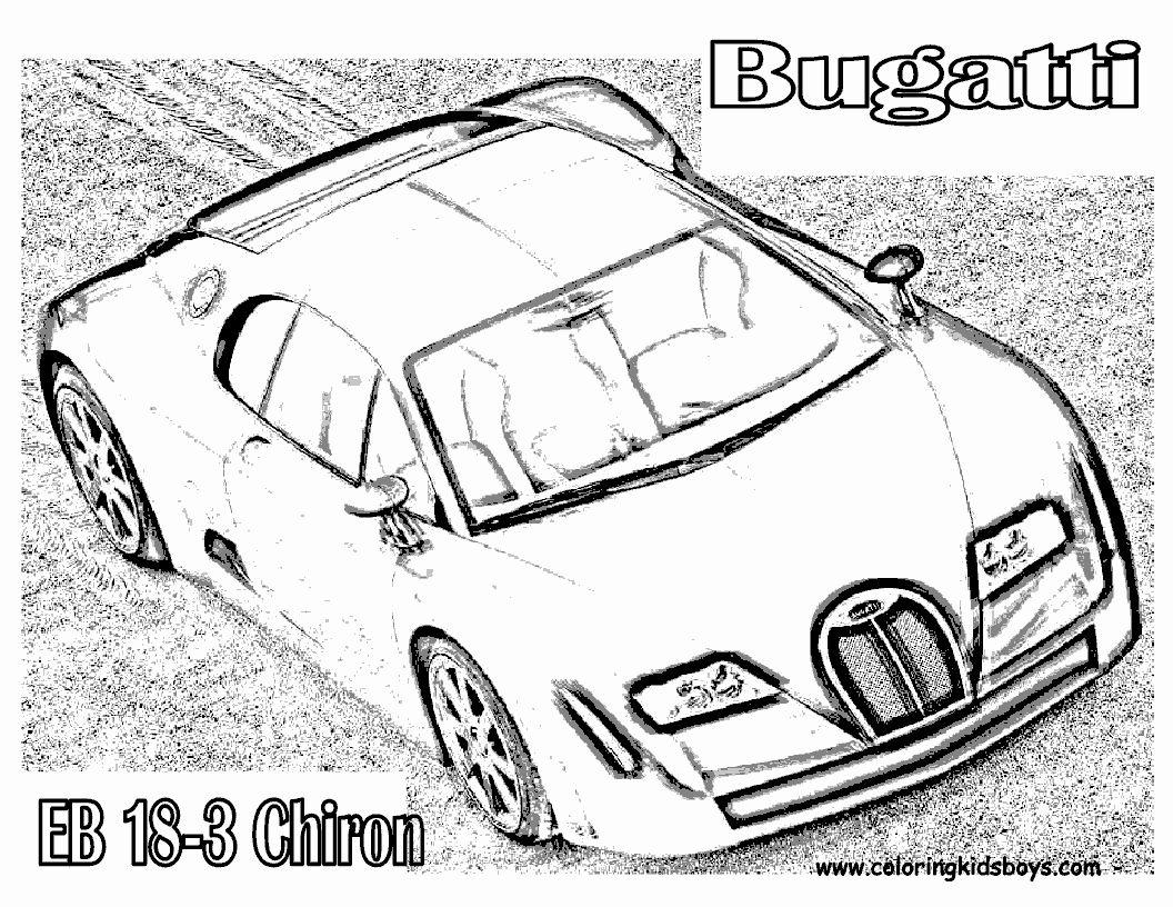 Bugatti Chiron Coloring Page Inspirational Bugatti Chiron ...