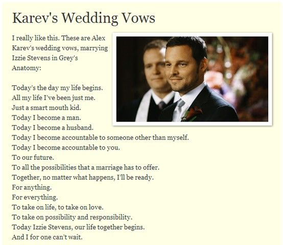 karevs wedding speech