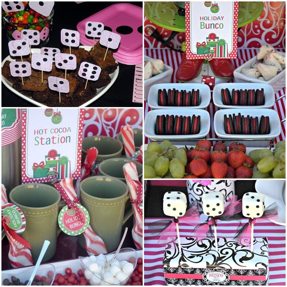 Bunco party ideas food bunco dinner party menu bunco party for Dinner party gift ideas