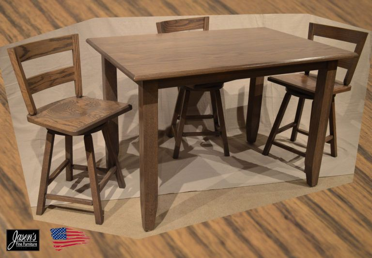 The Amish Clip Pub Table is the perfect table for a nook or kitchen ...