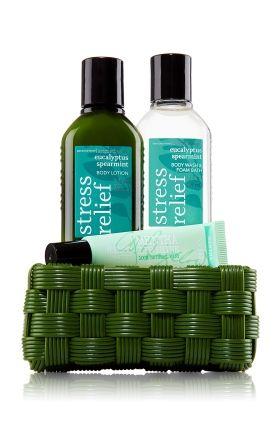 Aromatherapy Mini Gift Basket Stress Eucalyptus Spearmint