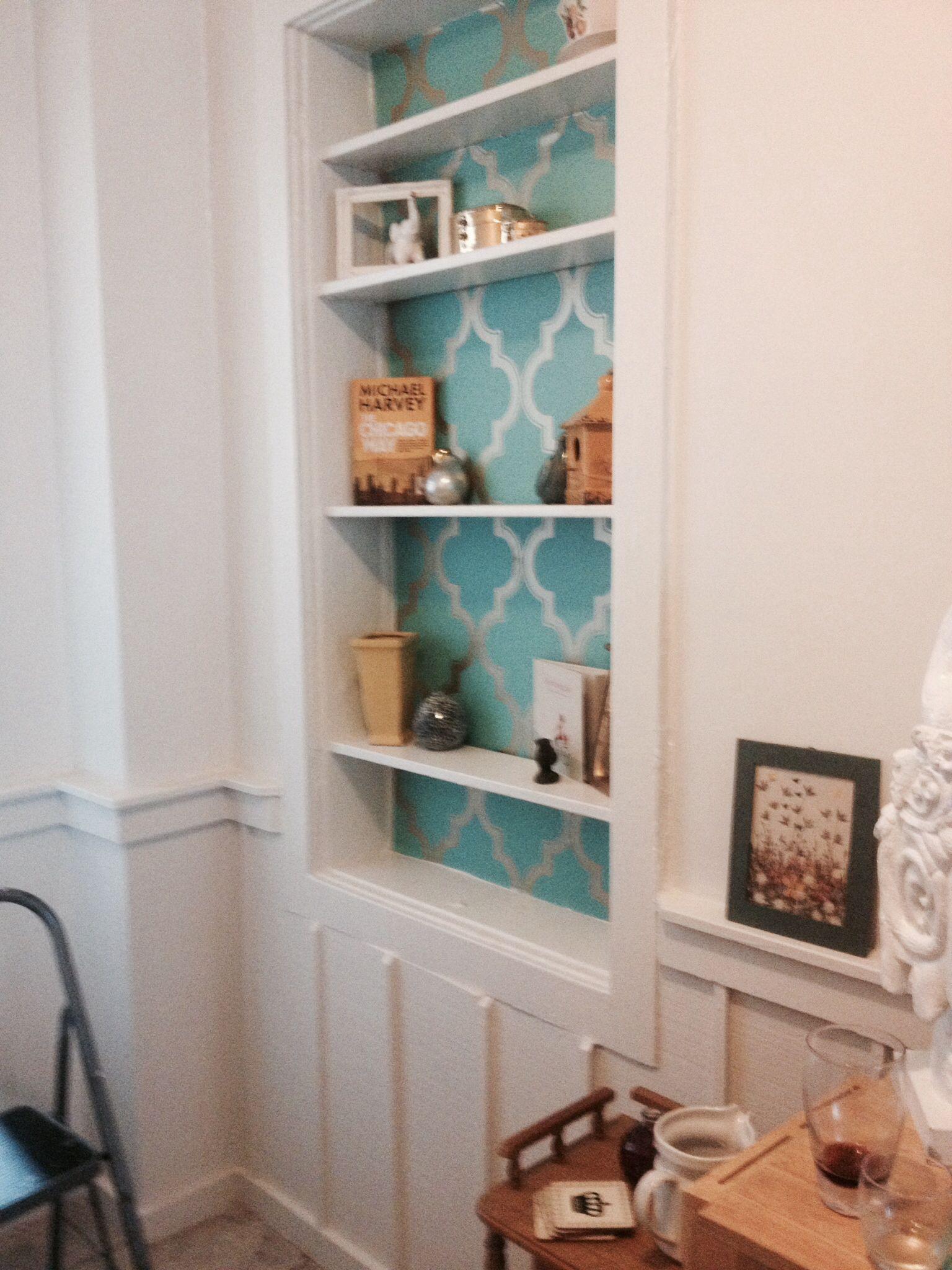 Peel and stick wallpaper! Love! target Victorian living
