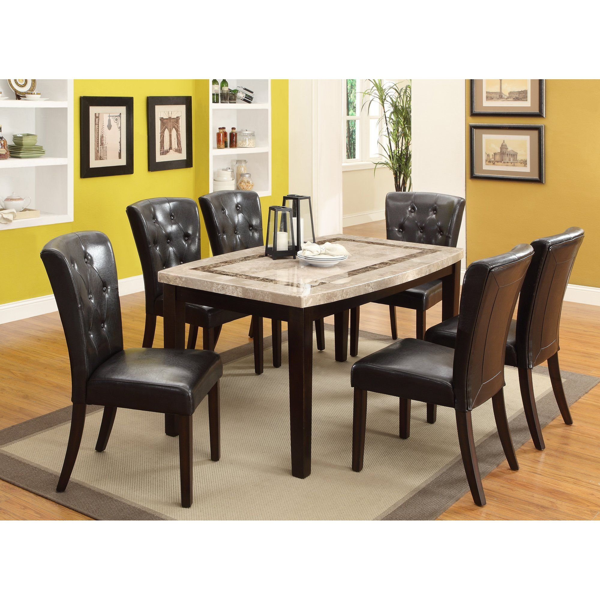 Dark Espresso Dining Table Montreal Dining Table Marble
