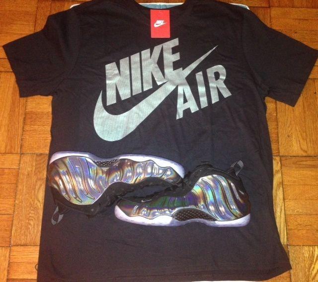 59ae4ae2f30 11 24 Nike Shirt to match Hologram Chrome Foamposites Foams black Sizes  M-2X  Nike  BasicTee