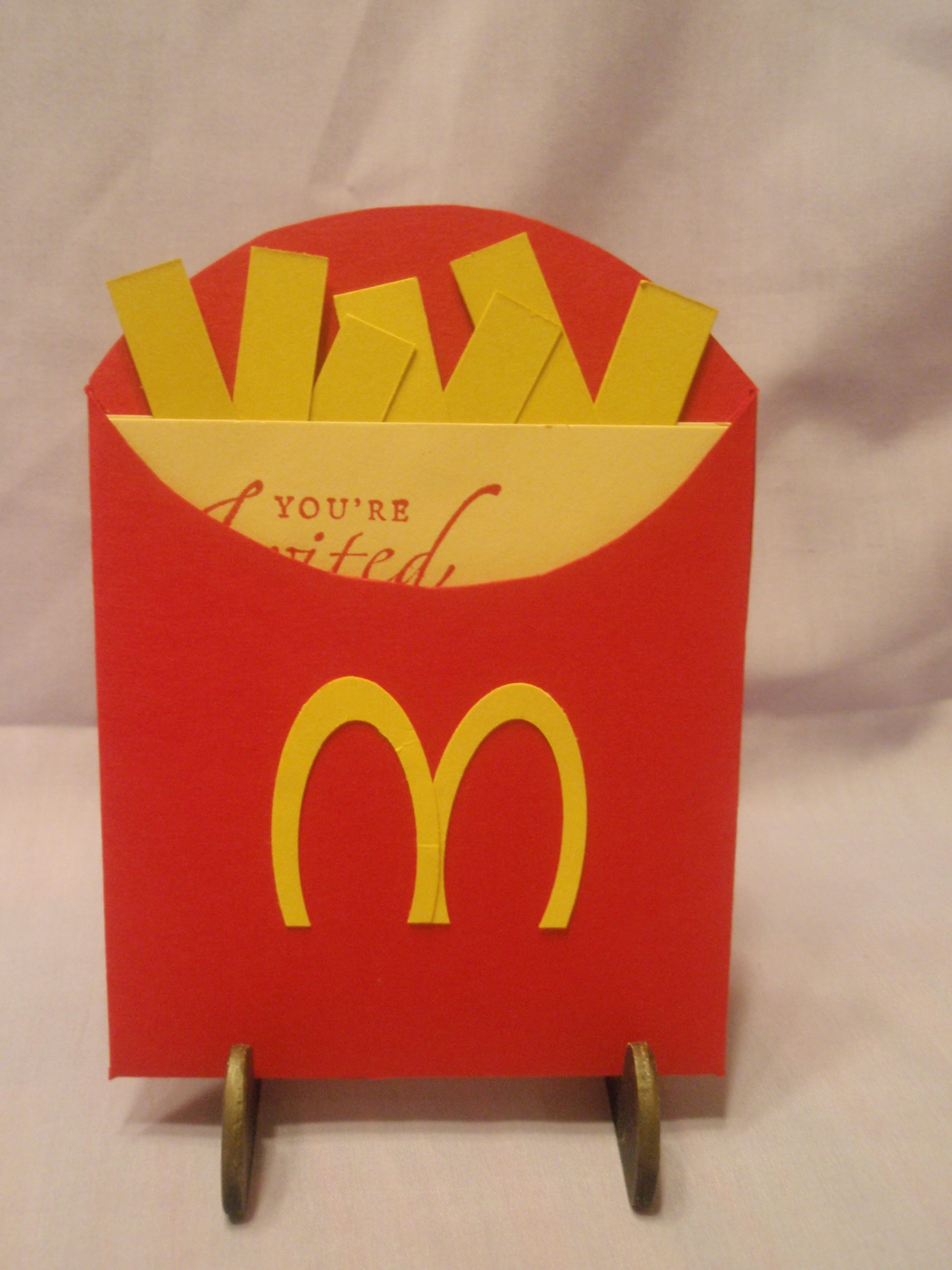 an invite I made for a Mcdonalds birthday party a friend was having ...