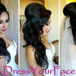 Afghan Wedding Hair Long Bridal Hair Wedding Hair Down Bridal Hair And Makeup